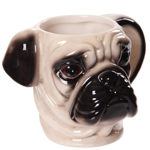 Dog Face Coffee Mug Porcelain Bulldog or Pug 300ml - Free Shipping Worldwide