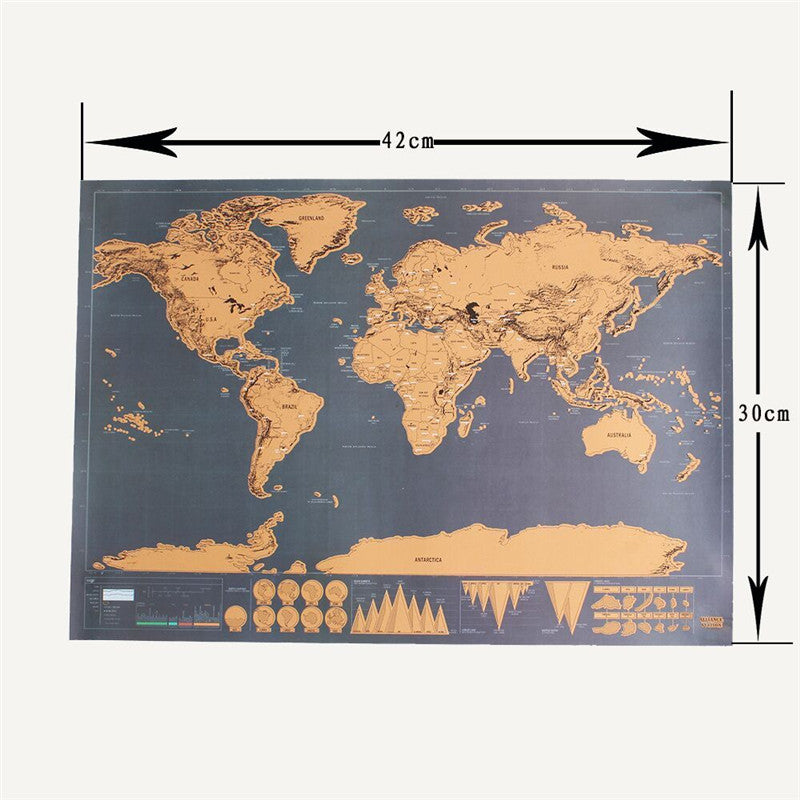 My Travel Diary Journal Wall Scratch Map - 42cm - Free Shipping Worldwide
