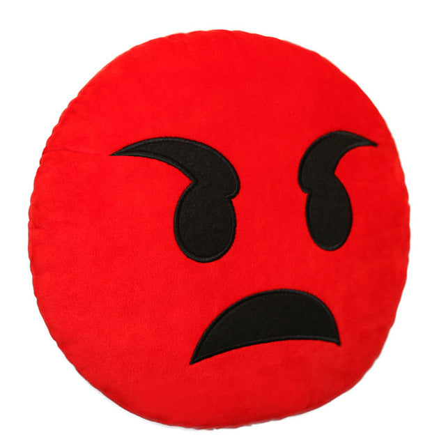 Emoji Pillow Cushion Smiley Face Stuffed Toy Soft Plush - 30cm - Free Shipping Worldwide