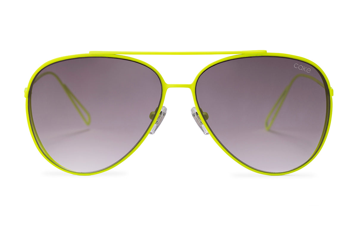 Neon Yellow / Gradient Smoke Lens