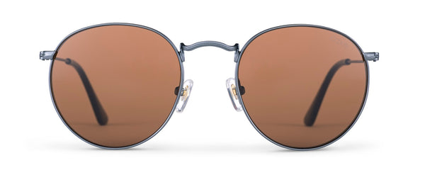 Shiny Gun Metal & Tort | Tinted Brown Lens
