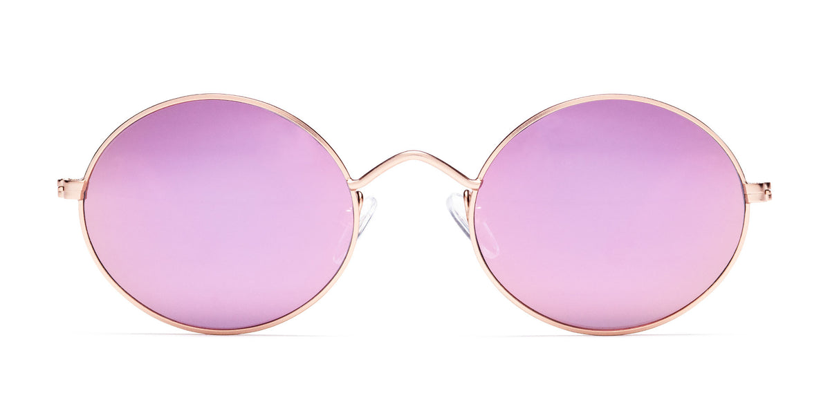 Matte Rose Gold / Pink Mirror Lens