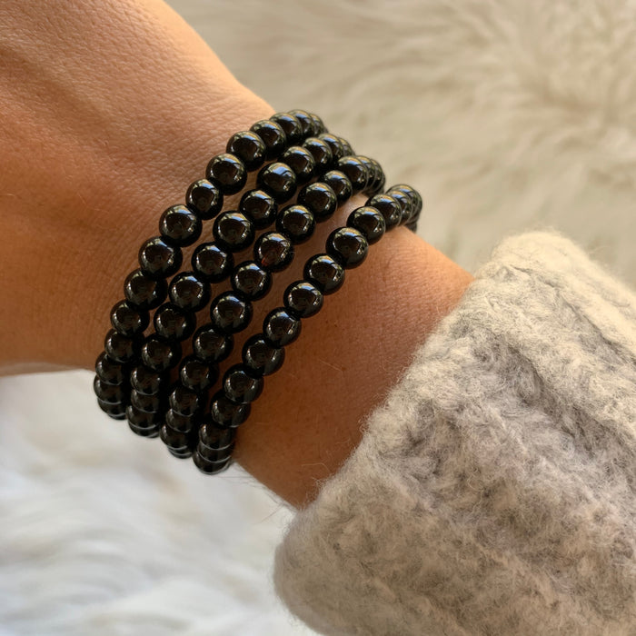 Black Wire Wrap Bracelet