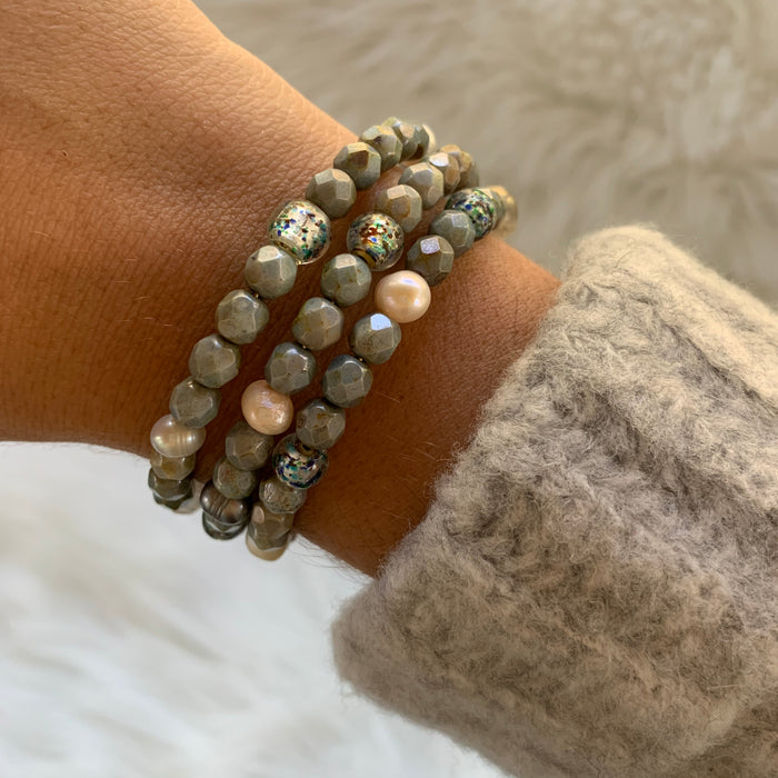 Gray Wire Wrap Bracelet