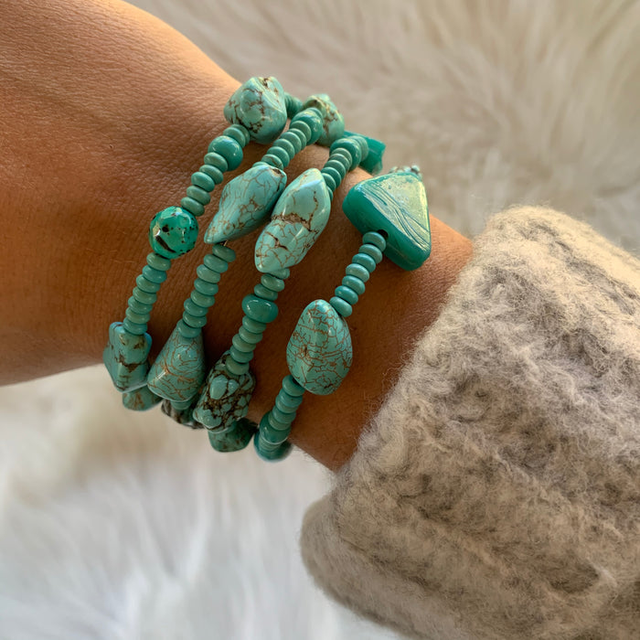 Turquoise Wire Wrap Bracelet