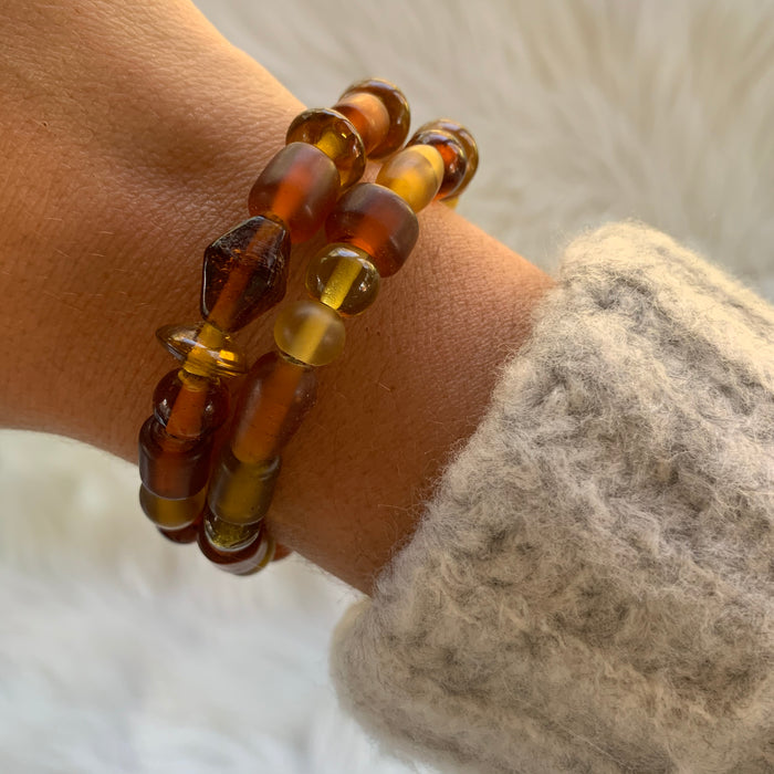 Rust Wire Wrap Bracelet