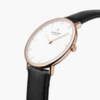 Native - SET White Dial Rose Gold | Brown  / Black  / Rose Gold Mesh Strap