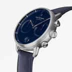 Pioneer - SET Navy Dial Silver | Mesh / Navy Leather Straps