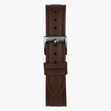 Dark Brown Leather - Gun Metal | 40mm