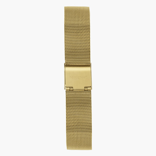 Gold Mesh Watch Strap - Gold - 32mm