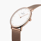 Native - SET White Dial Rose Gold | Mesh / Brown