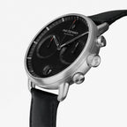 Pioneer - SET Black Dial Silver | Silver Mesh / Black Leather Straps