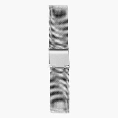Silver Mesh Watch Strap - Silver - 40mm