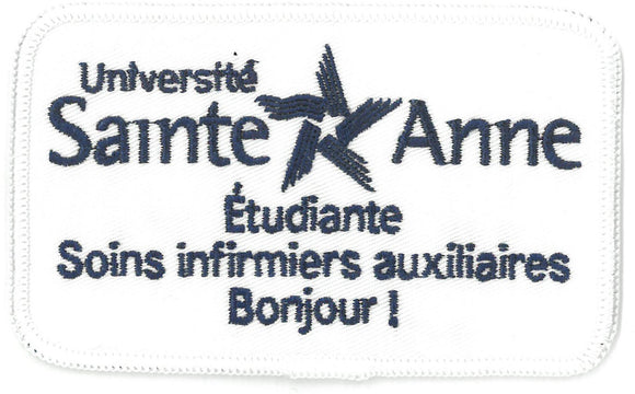 Badge d'identification -  Soins infirmiers auxiliaires