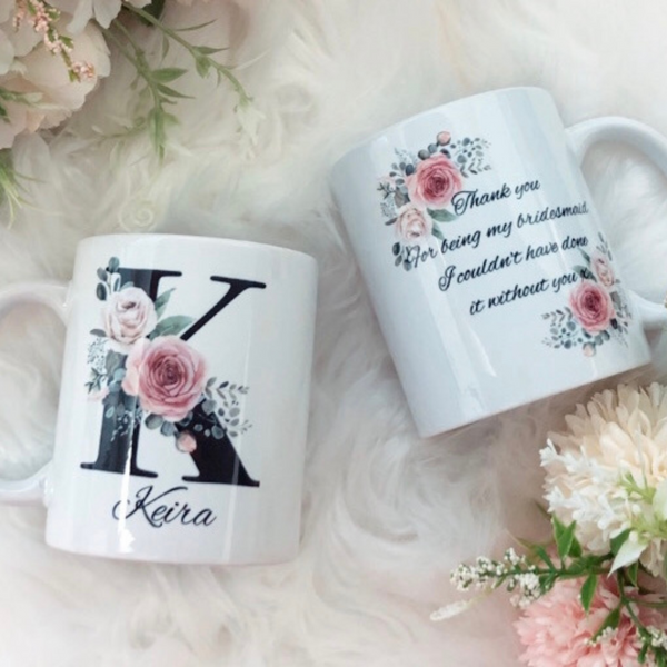 Personalised bridal mug
