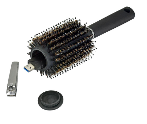 Hair Brush Safe Can
