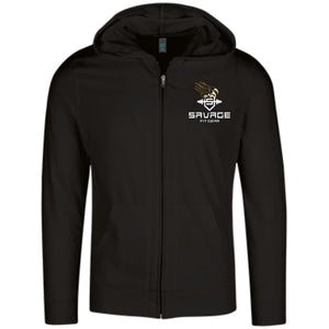 Savage Fitgear Lightweight Full Zip Hoodie - Black / X-Small - Sweatshirts Savage Fitgear