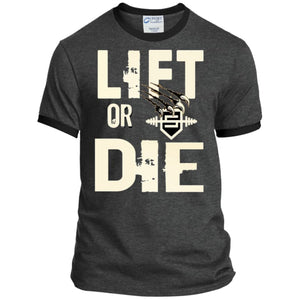 Lift or Die Heather T-Shirt - Dark Heather/Jet Black / S - T-Shirts Savage Fitgear