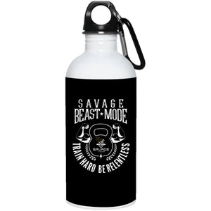 Savage Beast Mode Stainless Steel Water Bottle - Black / One Size - Drinkware Savage Fitgear