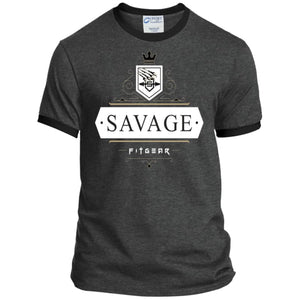 Savage Style Heather Sport Tee - Dark Heather/Jet Black / S - T-Shirts Savage Fitgear
