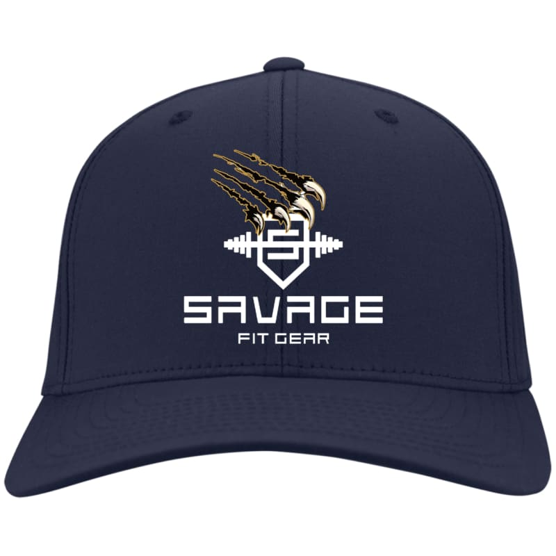 Savage Fitgear White Twill Cap - Navy / One Size - Hats Savage Fitgear