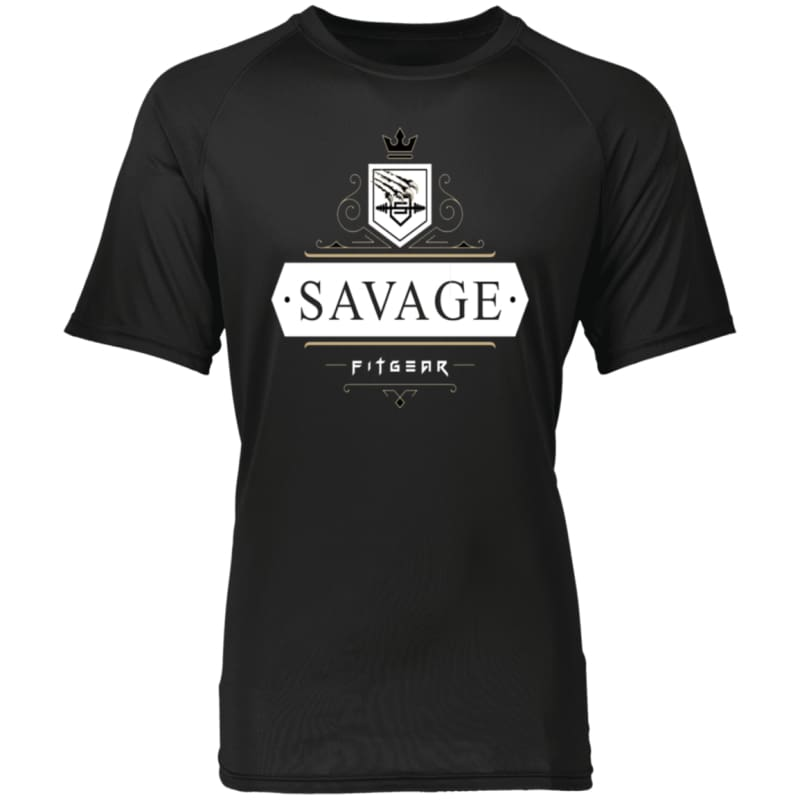 Savage Style Raglan Sleeve T-Shirt - Black / S - T-Shirts Savage Fitgear