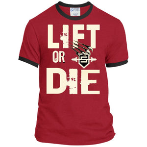 Lift or Die Heather T-Shirt - Red/Jet Black / S - T-Shirts Savage Fitgear