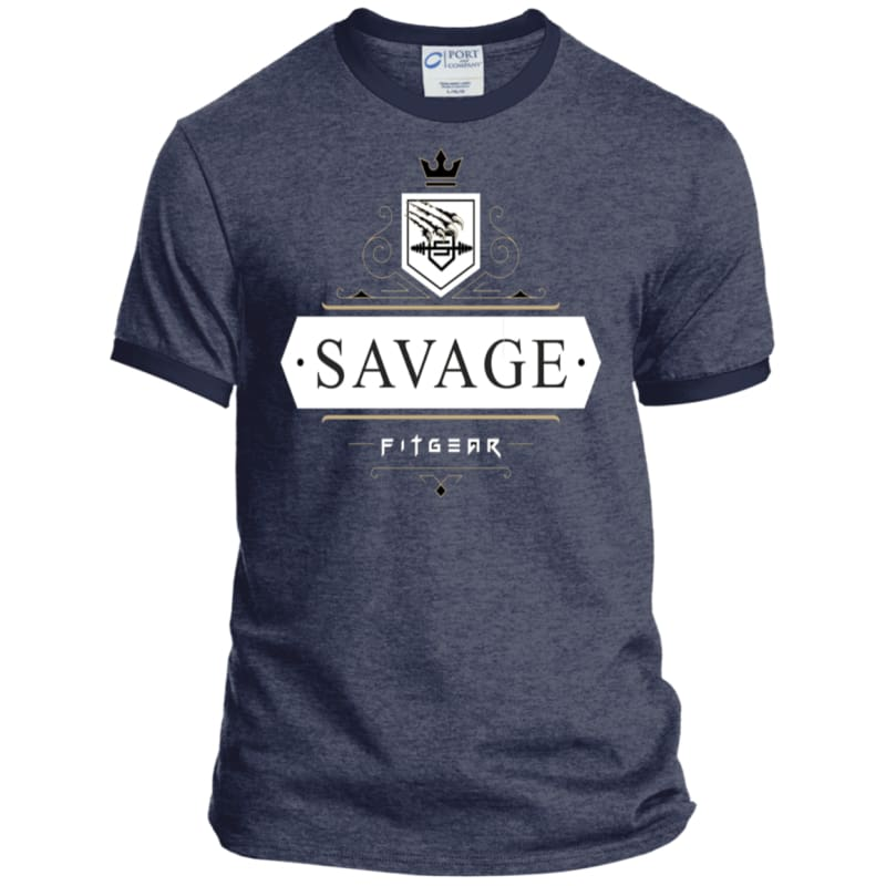 Savage Style Heather Sport Tee - Heather Navy/Navy / S - T-Shirts Savage Fitgear