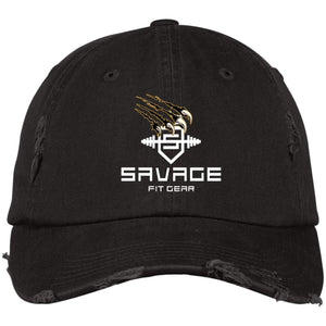 Savage Fitgear Black Distressed Cap - Black / One Size - Hats Savage Fitgear