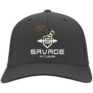 Savage Fitgear White Twill Cap - Charcoal / One Size - Hats Savage Fitgear