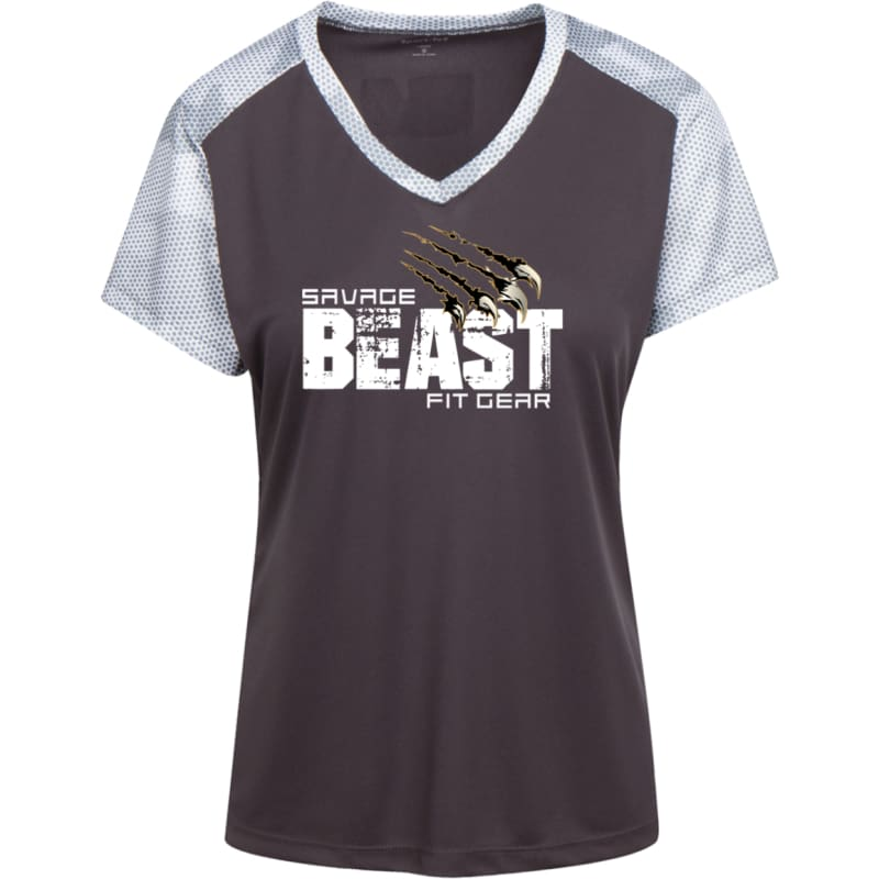 Womens' Savage Beast Camohex T-Shirt Womens' Savage Beast Camohex T-Shirt CustomCat