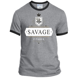 Savage Style Heather Sport Tee - Athletic Heather/Jet Black / S - T-Shirts Savage Fitgear