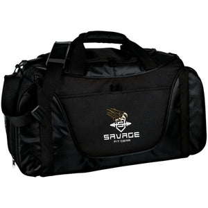 Savage Fitgear Gym Bag - Black/black / One Size - Bags Savage Fitgear