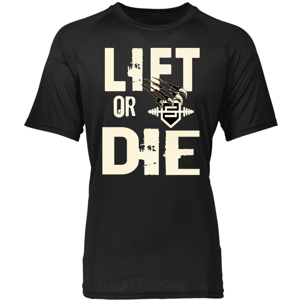Lift or Die Raglan Sleeve T-Shirt Lift or Die Raglan Sleeve T-Shirt CustomCat