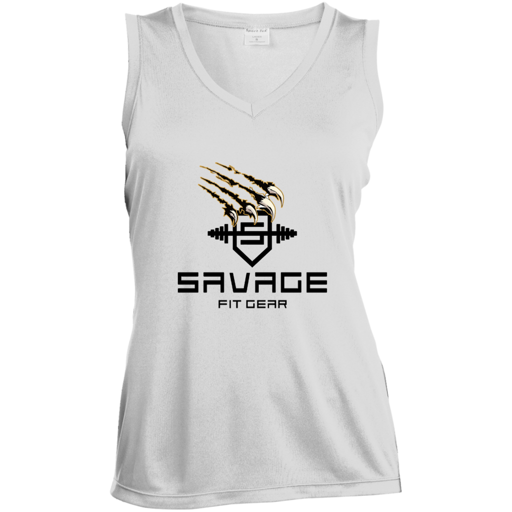 Womens Sleeveless Savage Tshirt Womens Sleeveless Savage Tshirt CustomCat
