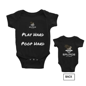 Play Hard Infant Bodysuit Play Hard Infant Bodysuit Savage Fitgear