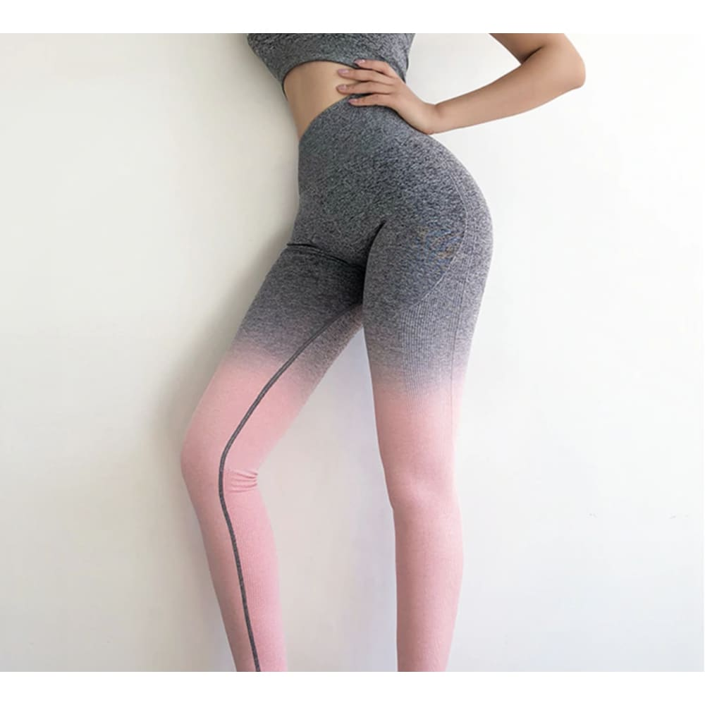 Seamless Ombre Compression Leggings Seamless Ombre Compression Leggings Savage Fitgear