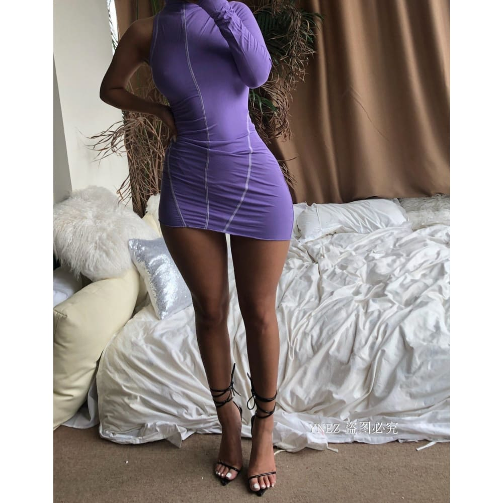 Purplexed Bodycon Dress Purplexed Bodycon Dress Savage Fitgear