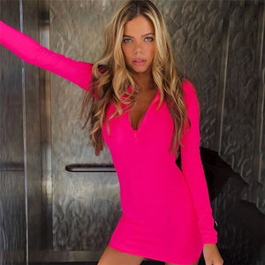 Neon Mini Dress Neon Mini Dress Savage Fitgear