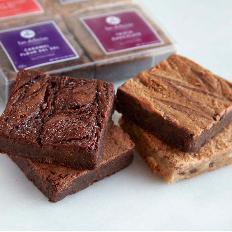 Gluten Free Brownie Collection (4 pc) - Las Delicias Patisserie