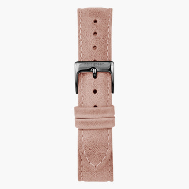 Lederarmband Rosa - Anthrazit - 36mm