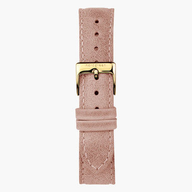 Lederarmband Rosa - Gold - 36mm