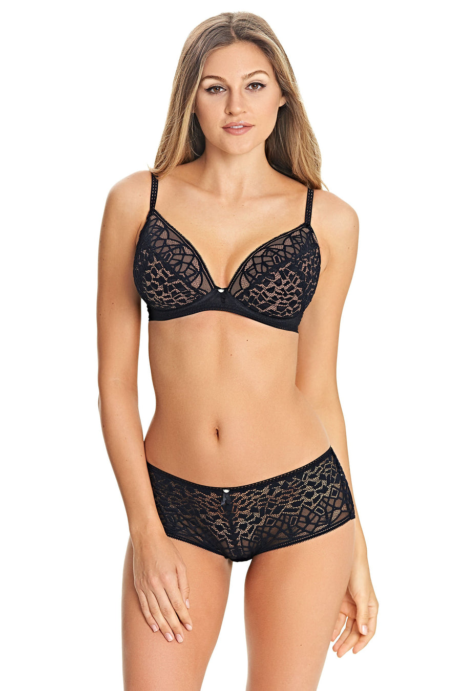 Freya - Soiree Lace Black Short