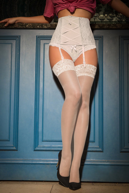 Pour Moi - Allure Lace top 15 Denier stocking - Ivory