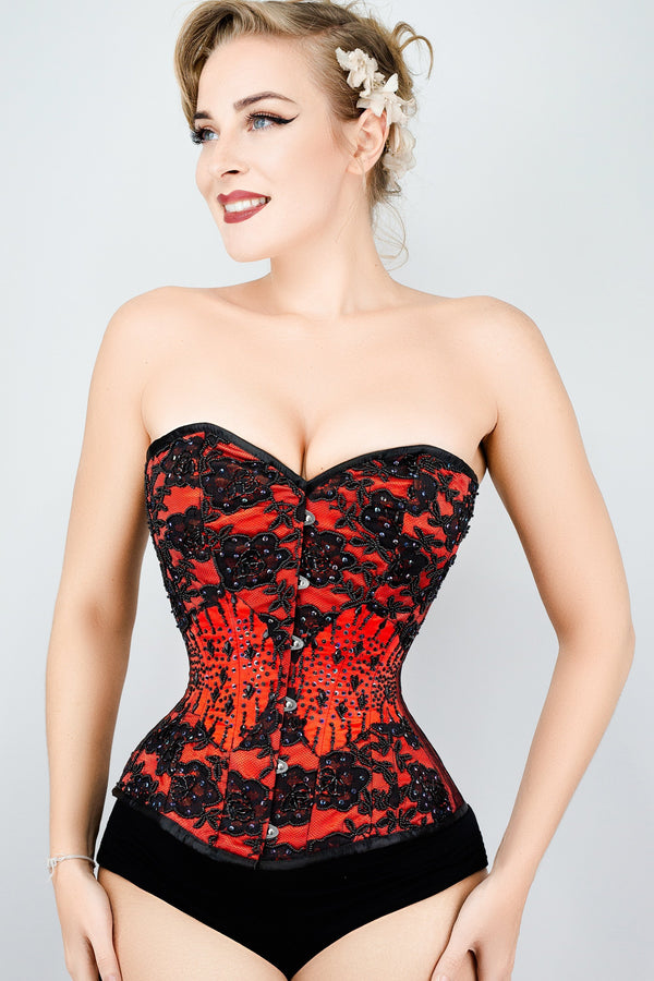 b2d3341824 Beautiful Red Couture Corset – Corset Story US