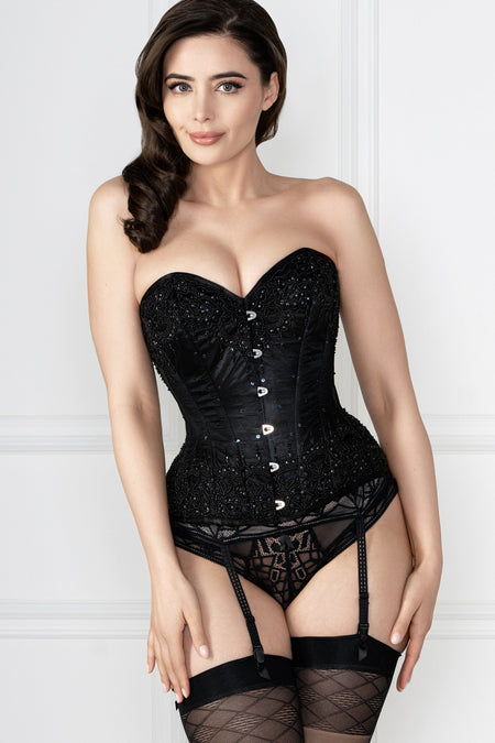 Freya - Soiree Lace Black Suspender