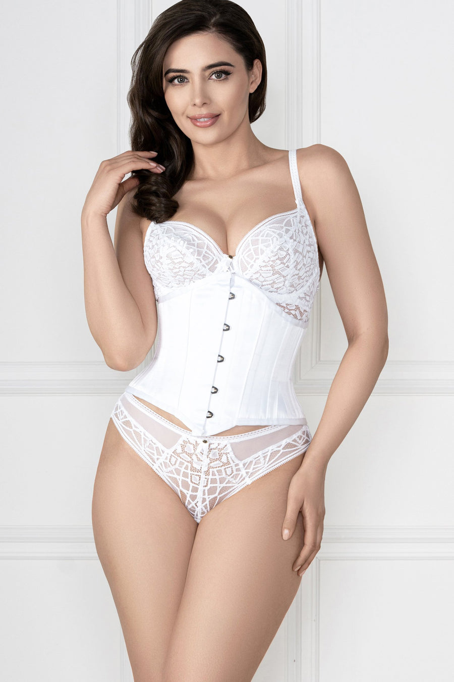 Soiree Lace White Brief
