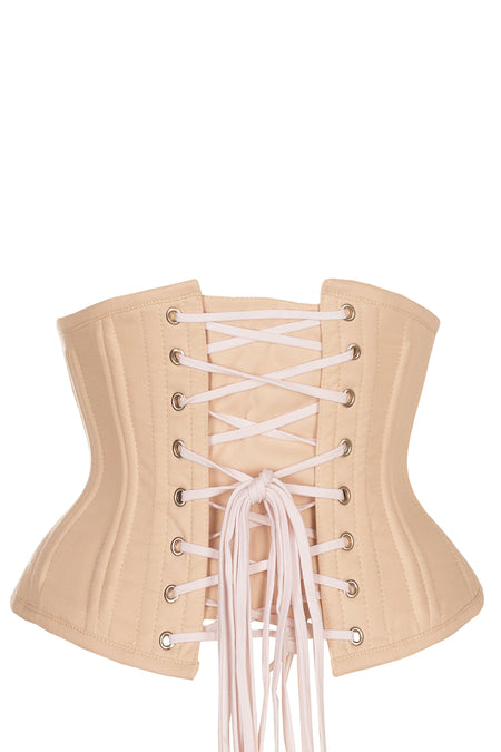 Nude Cotton Waist Training Waspie Corset