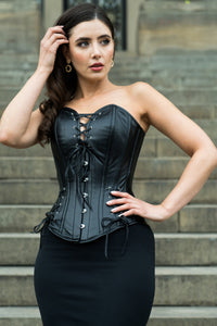 PVC Overbust Corset with Adjustable Hip Gore