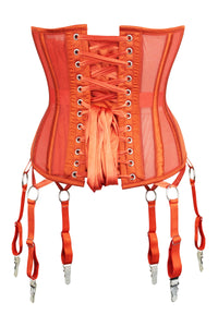 Burnt Orange Parisian Mesh Underbust